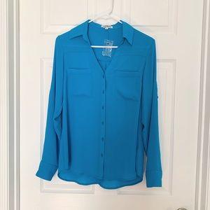 Two pockets Portofino Express Turquoise Blouse SP